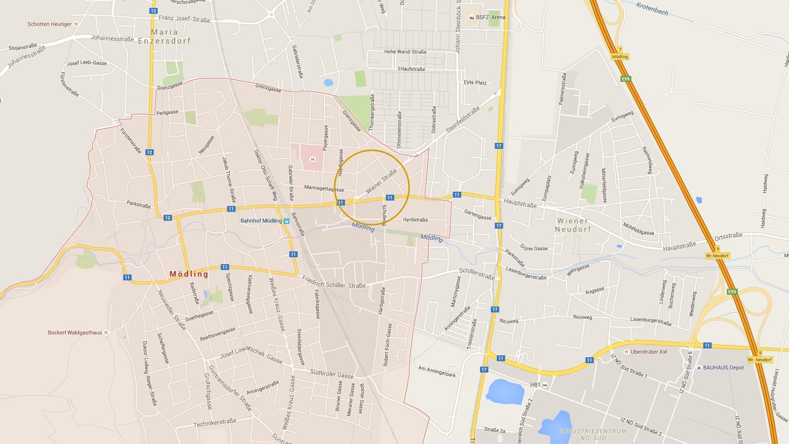 Projekt2340_Mödling_Wienerstrasse_Karte