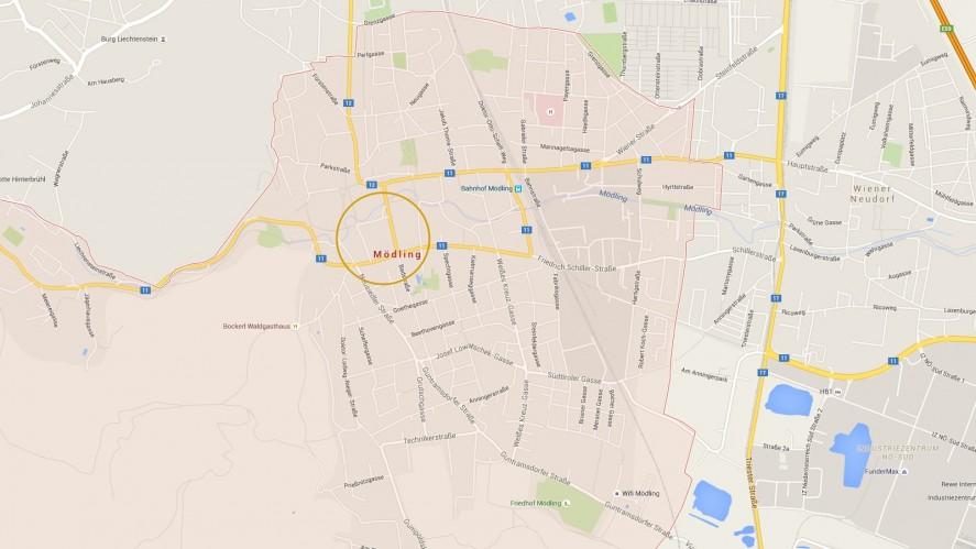 Projekt2340_Mödling_Schillerstrasse_Karte